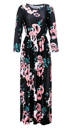 Long Trim Sleeve Coolred Plus Black Maxi Size Dress Pencil Elegent Women Pocket Hxqw0Ew1T5