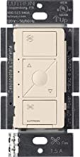 Lutron Caseta Smart Home Ceiling Fan Speed Control Switch, Works with Alexa, Apple HomeKit, and the Google Assistant   PD-FSQN-LA   Light Almond
