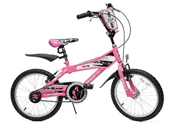 02b3ce26f02 Image Unavailable. Image not available for. Colour  AMMACO MX18 PINK GIRLS  18 quot  WHEEL BMX BIKE ...