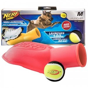 Nerf Dog Toys Tennis Ball Stomper, Medium, Red/Blue (Colors May Vary)