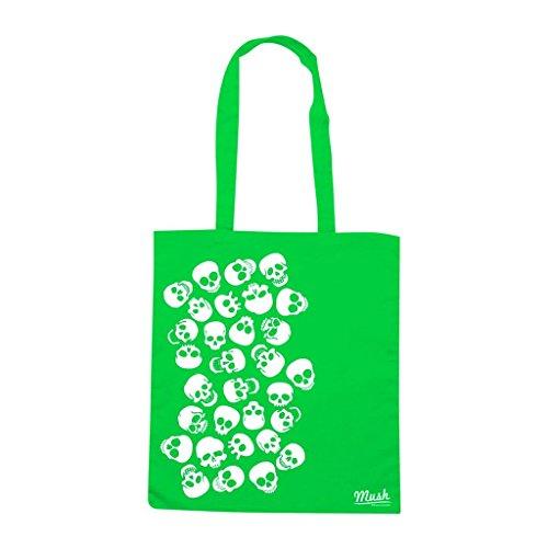 Borsa Funny Skull - Verde prato - Famosi by Mush Dress Your Style