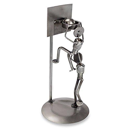 (NOVICA Large Metallic Artisan Crafted Recycled Metal Sculpture, 11.5