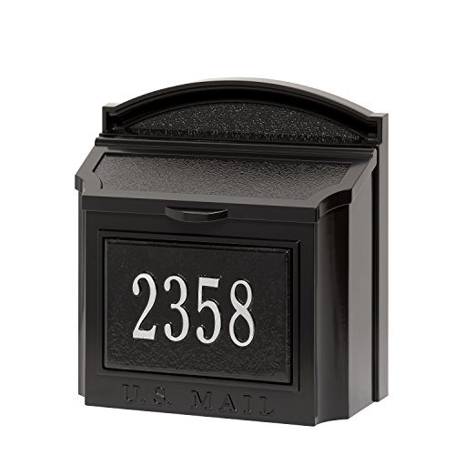 Customized Cast Aluminum Wall Mailbox AND Custom Address Numbers Plaque 15