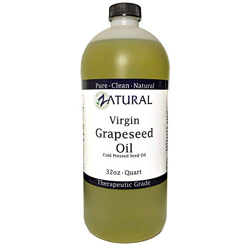 GrapeSeed Oil-Cold Pressed, Virgin, Undiluted, 100% Pure Grape Seed Oil (32 Ounce) ()