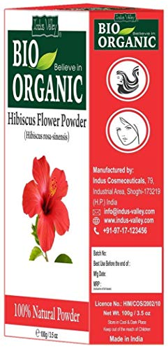 100 Pure Organic Hibiscus Flower Powder With Free Recipe Book 100g