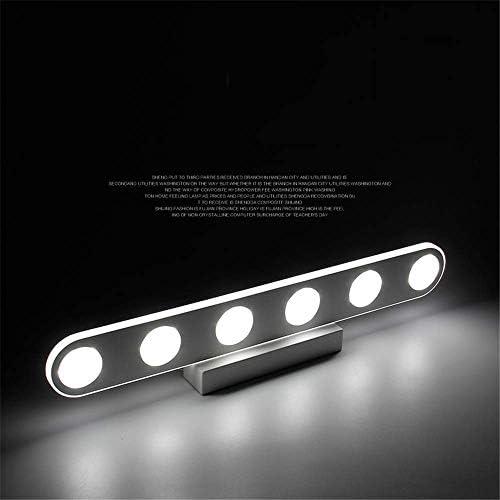 HIZLJJ 洗面化粧台ライトは6-ライトロングLEDバス照明オーバーミラークリスタルウォール燭台16Wホワイトクール