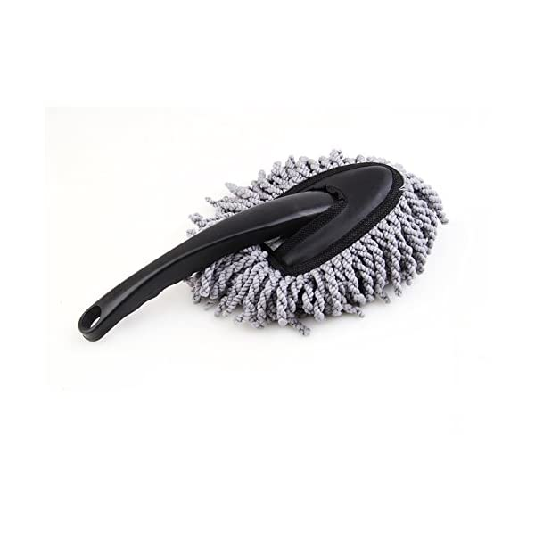 Multi Functional Super Soft Microfiber Portable Car Dash Duster Car Interior And Exterior Cleaning Dirt Dust Tool Home Use Dusting Brush Gray