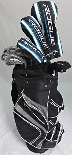 Callaway Mens Golf Set Complete Driver, Fairway Woods, Irons, Putter, Right Handed Clubs Deluxe Cart Bag Regular Flex