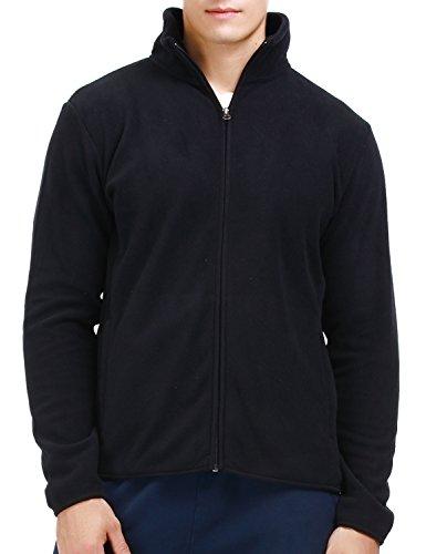 Puredown Men's Springs Steens Mountain Front-Full-Zip Fleece Jacket, Black, (Black Full Zip Fleece)