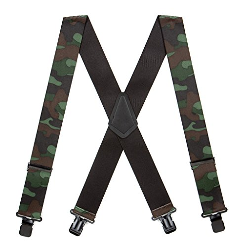 Suspender Store Mens Woodland Camo Suspenders - 2 Inch - Stores Woodlands