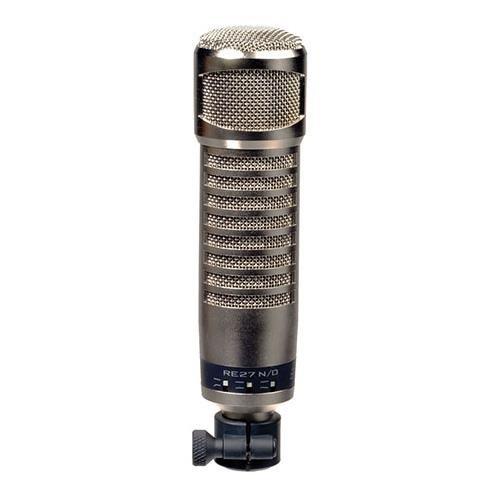 Electro-Voice RE27N/D Cardioid Variable-D Dynamic N/DYM Voiceover/Instrument Microphone with Internal Pop Filter, 45Hz-20000Hz, 150 Ohms ()
