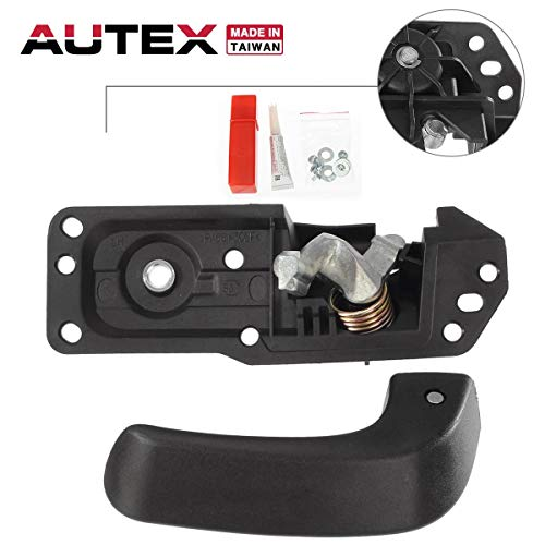 AUTEX Interior Door Handle Front/Rear Left Compatible with 2007 2008 2009 2010 2011 2012 2013 2014 Chevy Silverado GMC Sierra 1500 2500 3500 HD Tahoe Yukon Escalade Door Handle Driver Side 91485