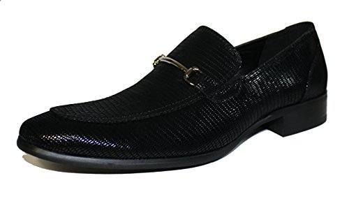 Faranzi F41095 Oxford Shoes for Men Black Patent Snake Print Tuxedo Slip-on Loafer Dress Wedding by Faranzi