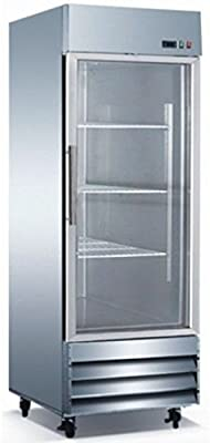 Glass Door Commercial Stainless Steel Refrigerator CFD-1RRG