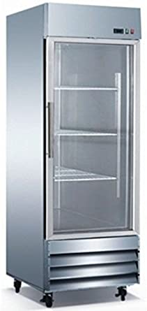 Glass Door Commercial Stainless Steel Refrigerator CFD 1RRG