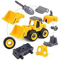Gift Paradize Unbreakable & Moveable JCB Truck Puzzle Toy Vehicle, DIY & Tack Apart Toys for Children Boys Big Size