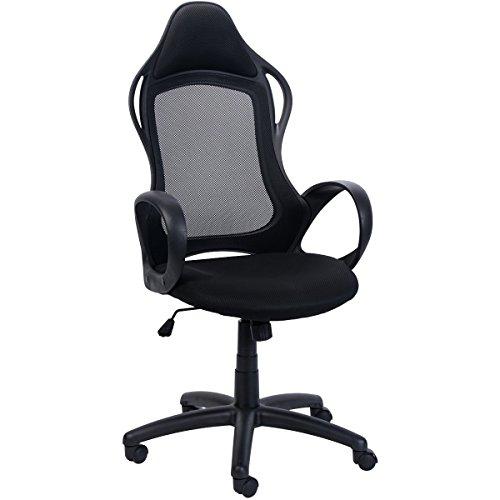 Sunmae High Back Mesh Office Chair, Ergonomic Executive Chair, Adjustable Computer Desk Swivel Chair - Black