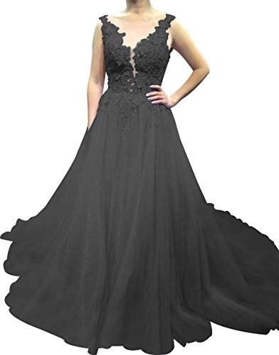 Wedding A11 Gown Ball Womens Dress Applique Floral Tulle Annies Prom Dress Lace Bridal avqw7ATg