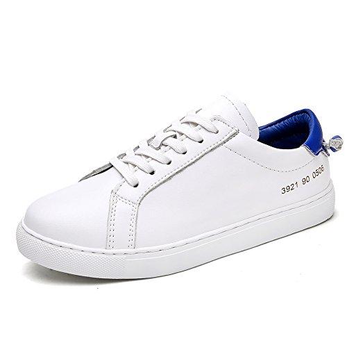 Zapatitos blancos/Zapatillas de damas/Zapatos blancos/ zapatos flat-bottom D