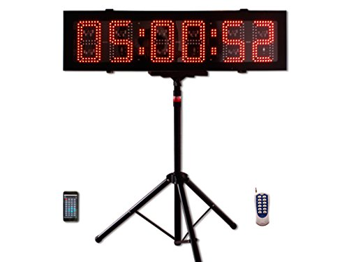 EU 8'' 6 digits Red Outdoor Double-Sided LED Race Timing Clock For Running Events APP supported. by EU DISPLAY