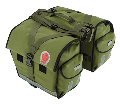 Roswheel 14686 Expedition Series Bike Rear Rack Bag Bicycle Double Panniers Cargo Trunk Bag