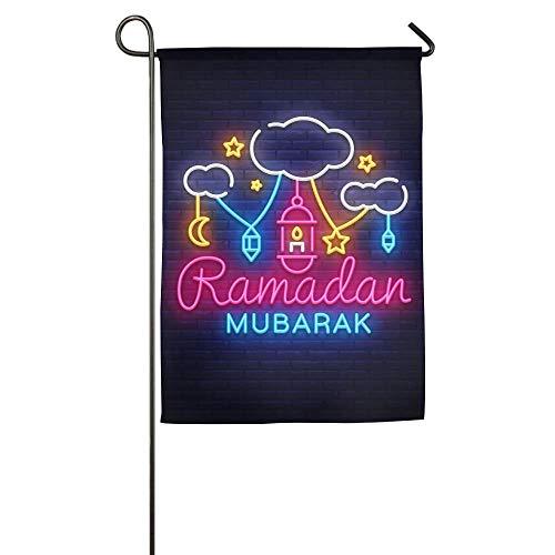 NOAID Personalized Garden Flag - Custom Ramadan Mubarak Yard Flag 12 X 18 Inches/18 X 27 Inches -