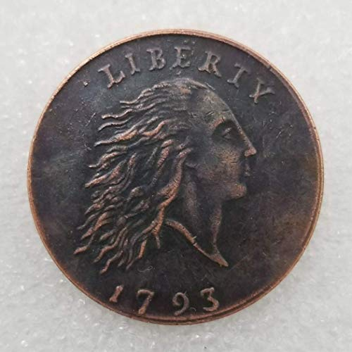 (NiuChong 1793 Antique Liberty One-Cent Coin -Great American Commemorative Coin - US Old Coins- Original Pre Morgan Uncirculated Condition Love it )