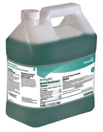 Diversey Neutral Disinfectant Cleaner, Fresh, PK2, 1.5 gal.