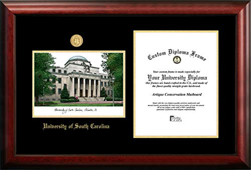 Campus Images University of South Carolina 11w x 14h Gold Embossed Diploma Frame Lithograph ()