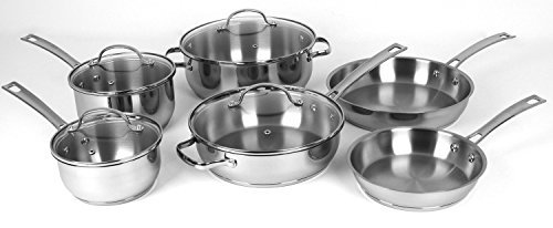 Oneida 10pc Stainless Steel Induction Ready Dishwasher Safe Cookware Set