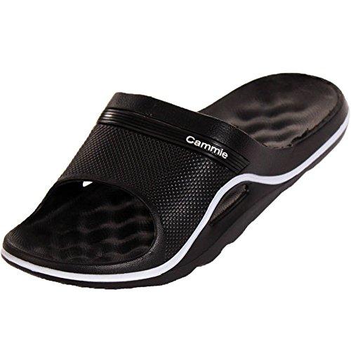 Cammie Women's Cushion Slip On Black Slide Sandals 10 B(M) US (Patio Shop The Pr)