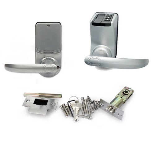 Adel 3398 Keyless Biometric Fingerprint Door Lock Trinity Fingerprint + Password+ Key