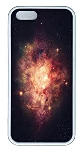 case unique universe nebula TPU White Case for iphone 5/5S