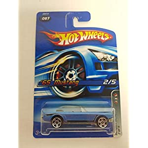 '65 Mustang Motown Metal 2/5 Blue Color No. 087 Hot Wheels 2006 1/64 scale diecast car