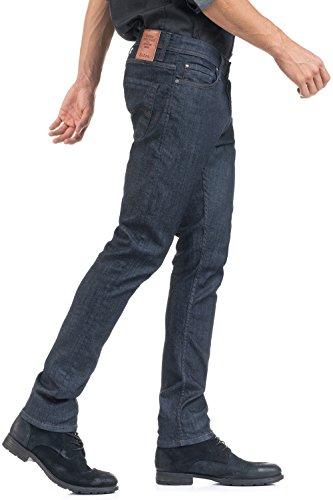 Salsa - Jeans Slender Slim Carrot avec délavage foncé - Homme - Bleu