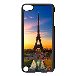 Yearinspace eiffel tower at sunrise Ipod Touch 5 Cases, Funny Design Ipod Touch 5 Case Cute {Black}
