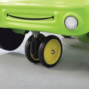 Easy turn castor wheel