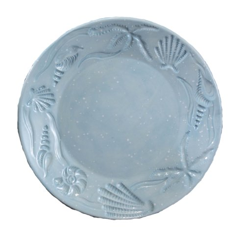 Shell Round Platter (Young's 30392 Ceramic Shell Dinner Plate, 11-Inch,)