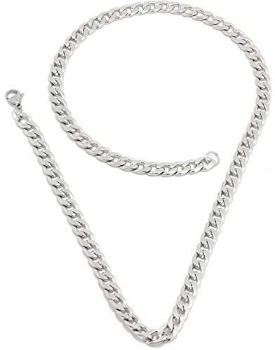 Saizen Silver Stainless Steel Chain Necklace For Men