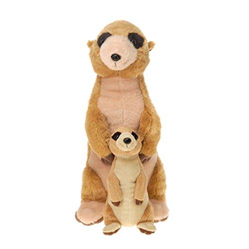 Stuffed Meerkat (Mama Meerkat with Baby Plush Stuffed Animal Toy by Fiesta Toys - 13