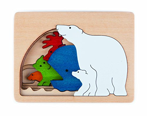 Hape Polar George Luck Wooden Layers Puzzle