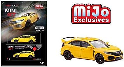 TSM Model Mini-GT 1:64 2018 MiJo M/&J Toys Exclusive White HONDA CIVIC Type-R FK8