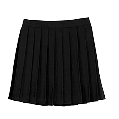 Golden service Girls School Uniforms Solid Pleated Mini Skirt