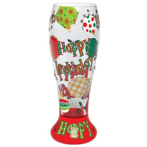 Lolita Gotta Love Beer Pilsner Glass, Happy Holidays