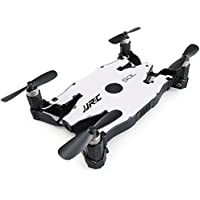 JJRC H49 Mini RC Quadcopter Drone with 720P HD Camera SOL Ultrathin Foldable 4 AXIS WIFI/2.4G Remote Control Mode Drone, White