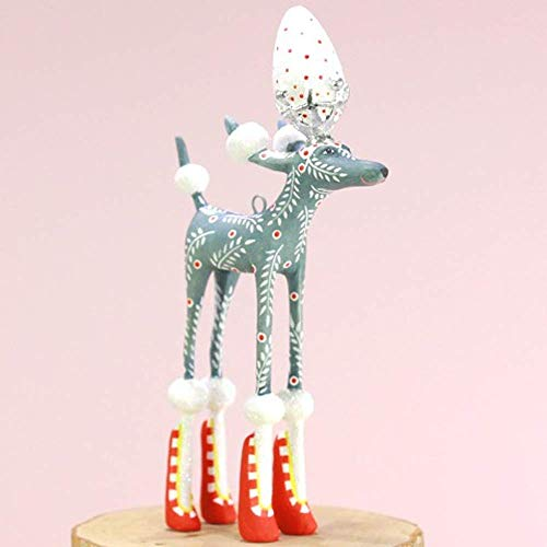 Patience Brewster Mini Paul Gray Poodle Figural Ornament #31308 -