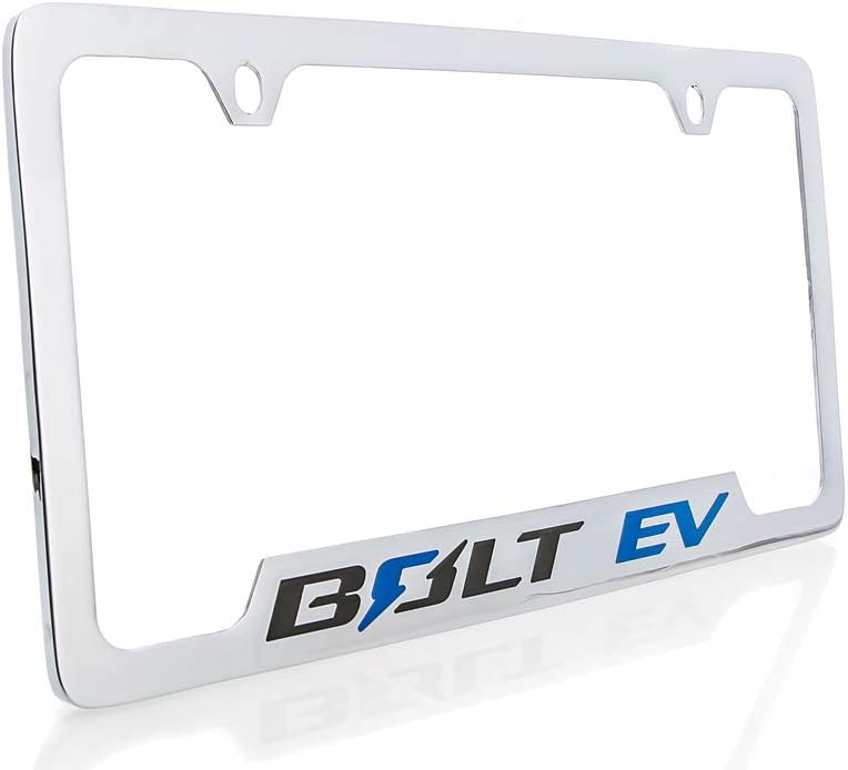 Chevrolet Bolt EV Wordmark Metal License Plate Frame Holder 2 Hole