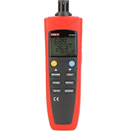 UT331 Digital Thermo-hygrometer Thermometer Temperature Humidity Moisture Tester with LCD Backlight USB