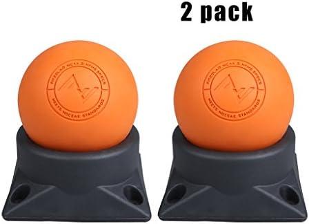 LANA Massage Ball 2 PACK - Silicona dura y suaveMassager Roller Balls - Fascitis plantar, pie de tejido profundo, espalda, hombro, piernas, terapia muscular, lanzamiento de yoga y miofascial - 2.5 pul: Amazon.es: Hogar