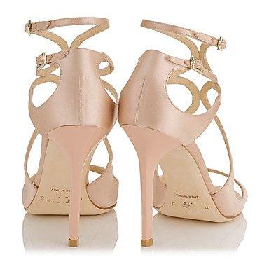 LvYuan Mujer-Tacón Stiletto-Otro-Sandalias-Boda Oficina y Trabajo Vestido Informal Fiesta y Noche-Semicuero Microfibra-Rosa Plata Pink